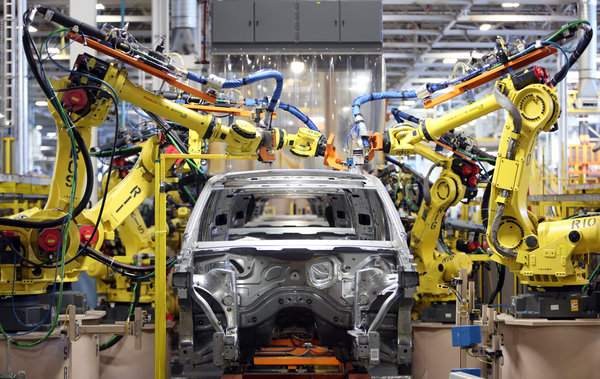 Ford Assembly Line in Michigan.