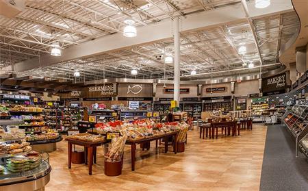 Inside Harris Teeter it also looks like Whole Foods.
