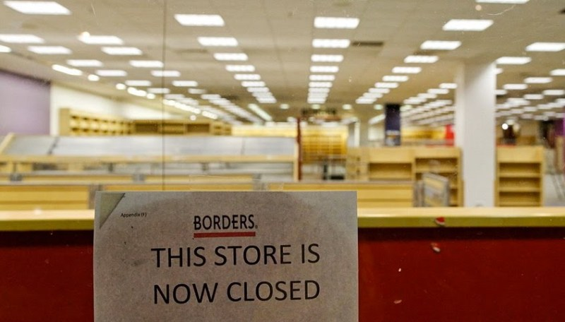 Borders Bookstore Closed