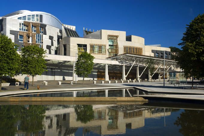 No it's not the headquarters of an insurance company, it's Scotland's Parliament.