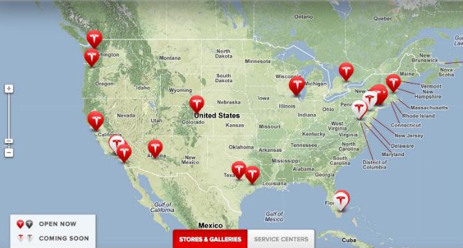 Tesla-locations