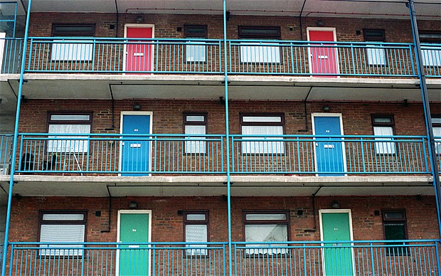 Council housing the real little England.