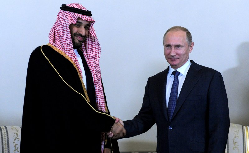 Prince Mohammad visits Peter's modern successor Vladimir Putin.