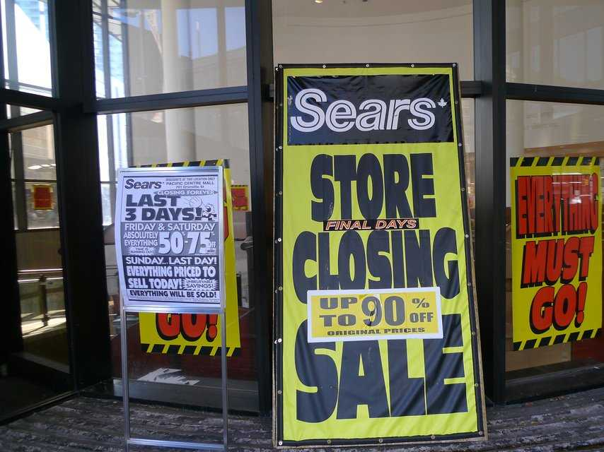 Sears Canada Is Closing A Quarter Of Its Stores Heres The Full List