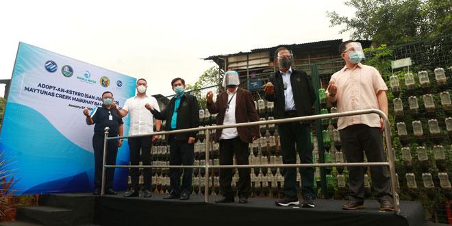Manila Water's Adopt-an-Estero program commences with San Juan River clean-up