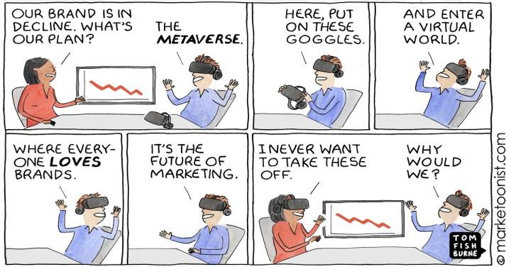Marketing in the Metaverse cartoon