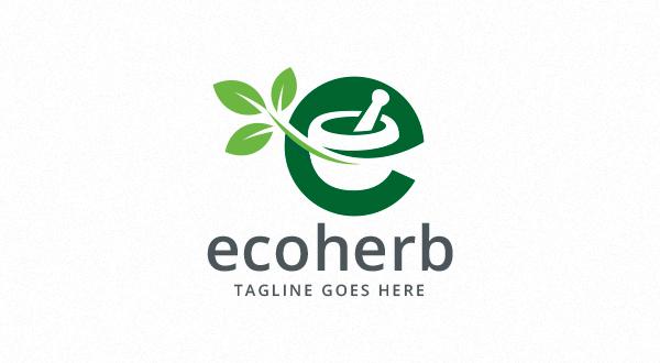 Ecoherb - Pharmacy - Letter E Logo - Logos & Graphics