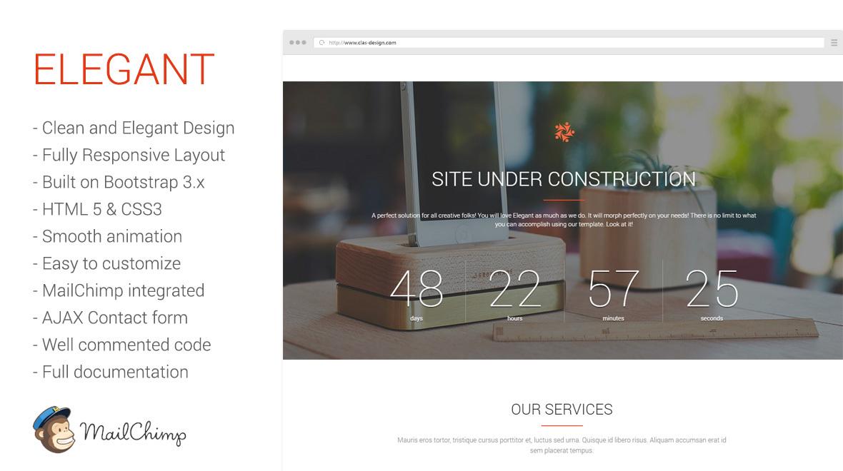 Elegant  Responsive Coming Soonunder Construction