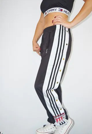318c8e00082 adidas tracksuit bottoms womens asos 80s adidas poppers tracksuit bottoms  joggers trousers