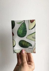 Avocado Passports Holder cover eco leather travel wallet ...