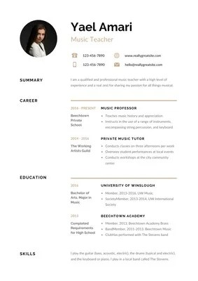 Free, Professional Resume Templates to Customize| Canva