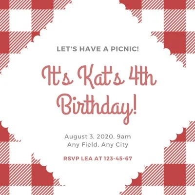 free picnic invitations templates to
