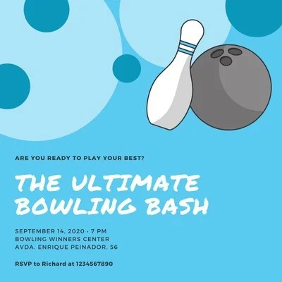 bowling invitation templates