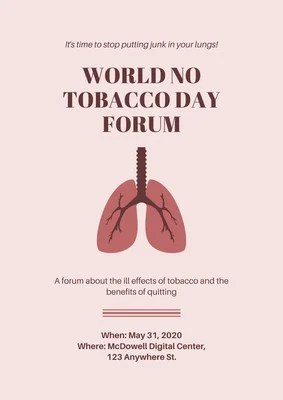 free world no tobacco day posters