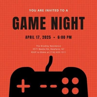 free game night invitations templates