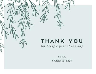 Printable Customizable Thank You Card Templates Canva