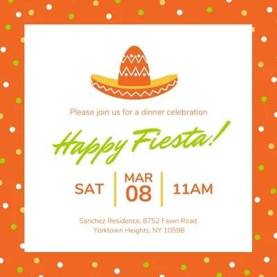 fiesta invitation templates