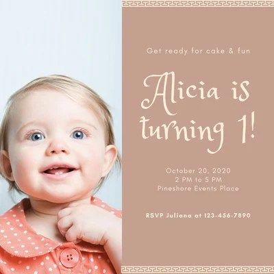 baby birthday invitations templates