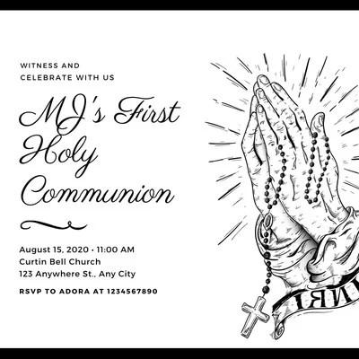 Customize 165+ First Communion Invitations Templates