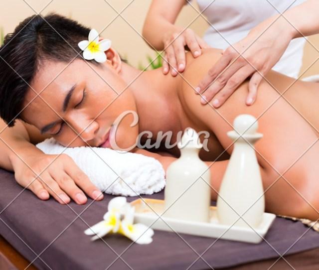 Indonesian Asian Man Massage