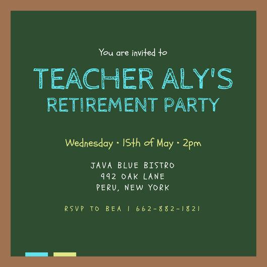 teacher retirement party invitation templates