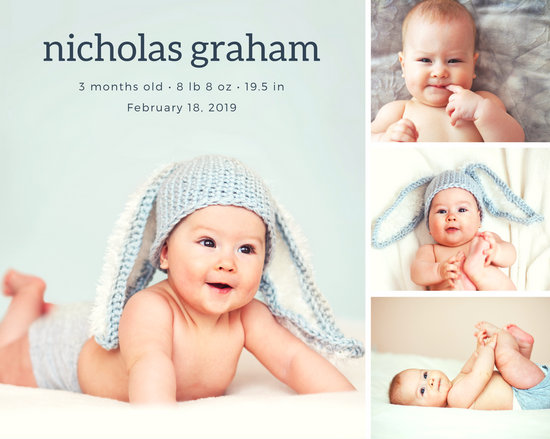 Customize 378 Baby Photo Collage Templates Online Canva
