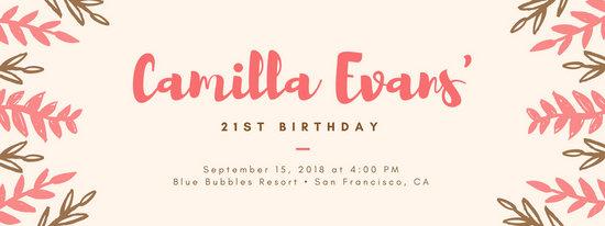 Birthday Facebook Event Banner
