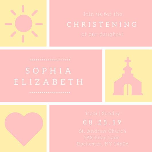 Creative Christening Invitations