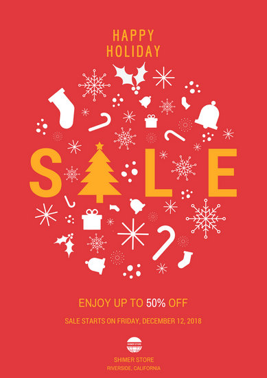 Christmas Holiday Sale Poster  Templates by Canva
