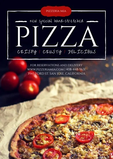 Pizza Restaurant Flyer Templates By Canva