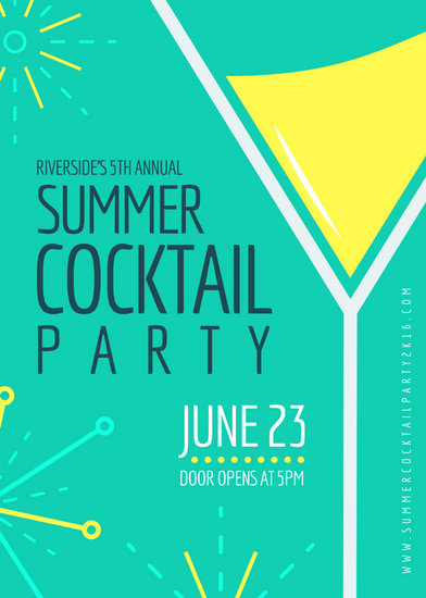Bright Cocktail Party Flyer Templates By Canva