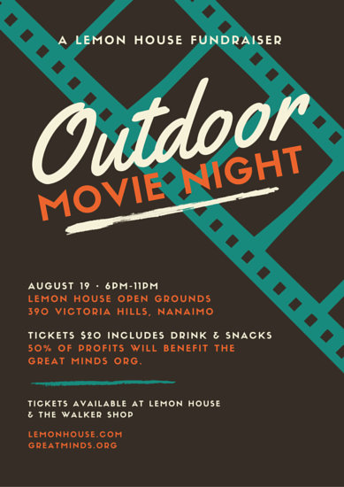 Outdoor Movie Night Fundraising Poster Templates By Canva