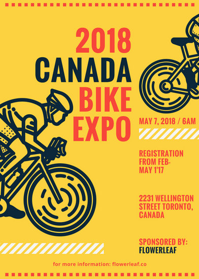 Bike Themed Event Flyer Templates By Canva