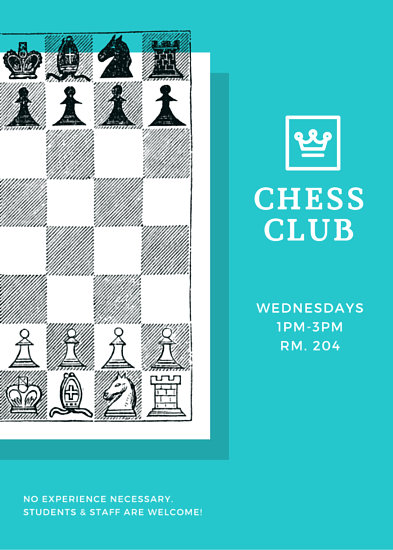 Chess Team Recruitment Flyer Templates By Canva