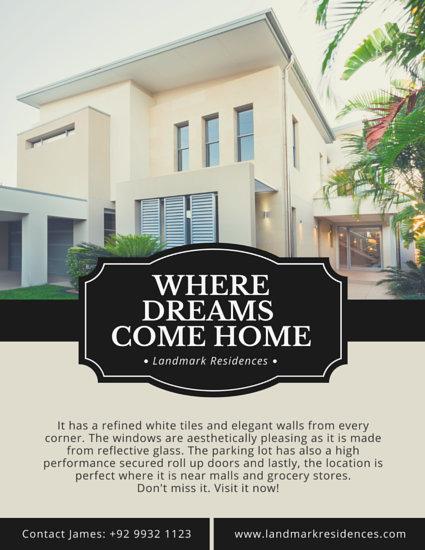online real estate flyer creation