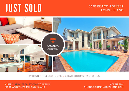 Orange Just Sold Real Estate Postcard Templates By Canva