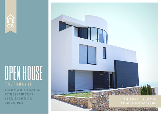 Open house postcard ideas real estate postcard templates canva pronofoot35fo Gallery