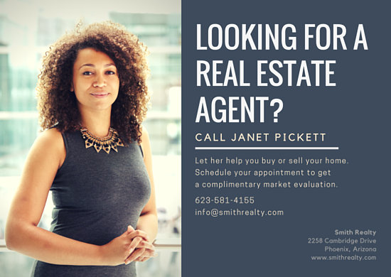 Real Estate Agent Postcard Templates By Canva