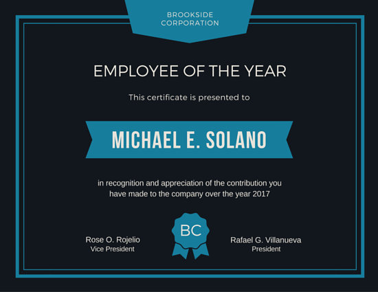 Employee Of The Year Award Certificate Templates By Canva