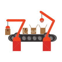 Conveyor Belt Factory Industry Icon - Icons Canva