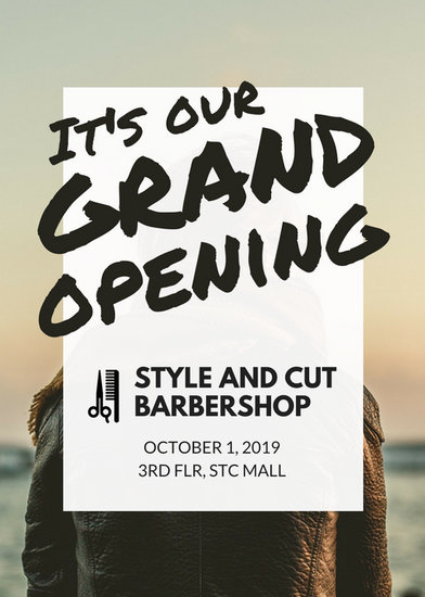 Customize 379 Grand Opening Flyer templates online  Canva
