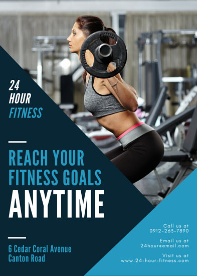 Fitness Flyer Templates Canva