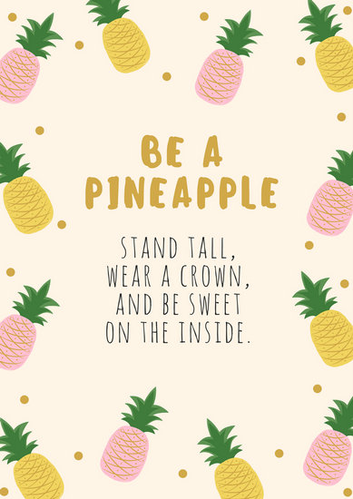 Awesome Cute Binder Wallpapers That Are Printable Pineapple Quote Poster Templates By Canva