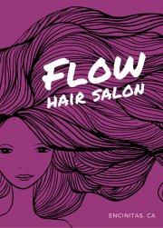 bright pink hair salon flyer