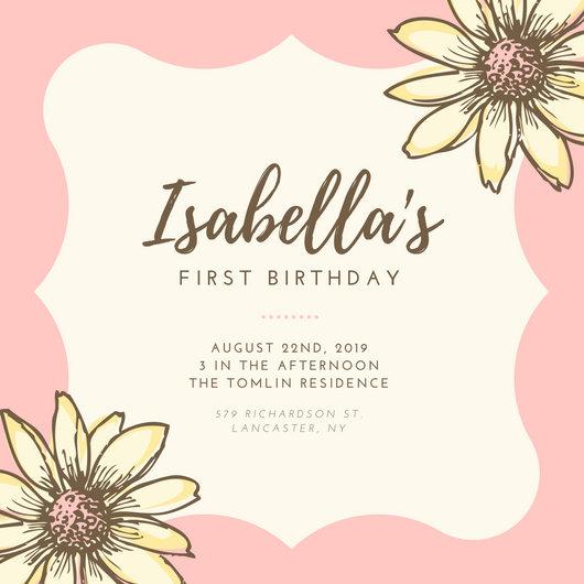 Customize 613 1st Birthday Invitation Templates Online