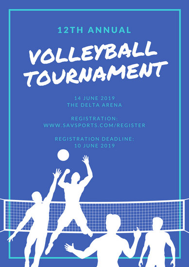 Volleyball Poster Templates By Canva