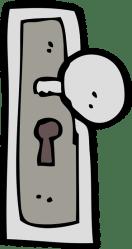 cartoon door knob doors sc elevator canva pezcame