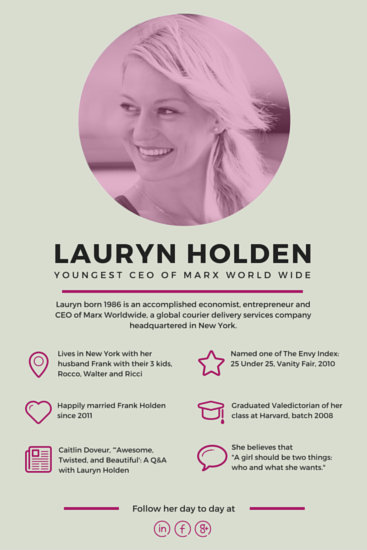 Creative Biography Blog Graphic Templates By Canva