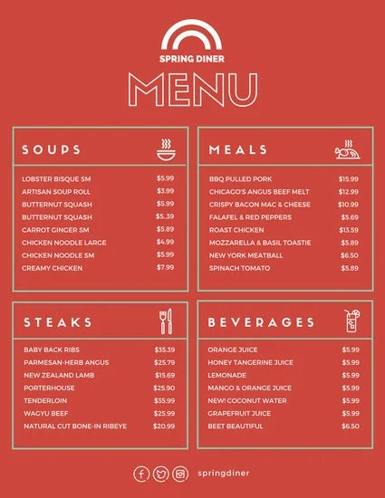 Customize 64 Diner Menu Templates Online Canva