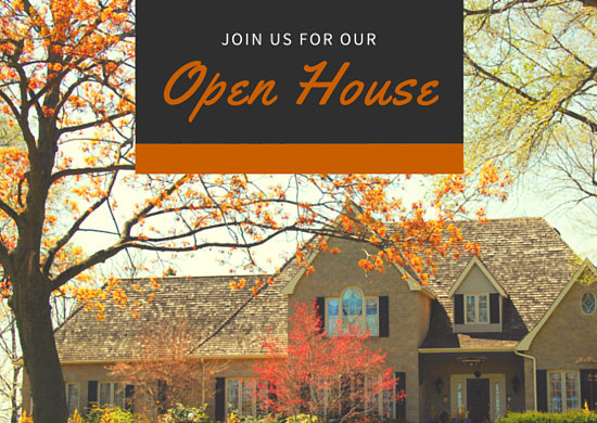Open House Real Estate Invitation Postcard Templates By Canva
